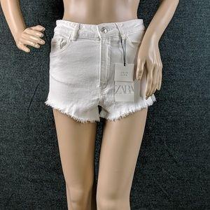 NWT Zara White Cutoff Shorts